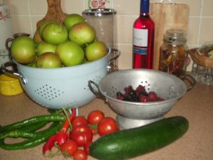 Produce from the garden